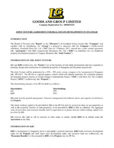 11 joint venture agreement examples  pdf doc  examples construction joint venture agreement template sample