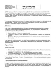 18 trust agreement templates  pdf word  free & premium formal trust agreement template sample
