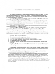divorce agreement form  21 free templates in pdf word divorce financial agreement template pdf