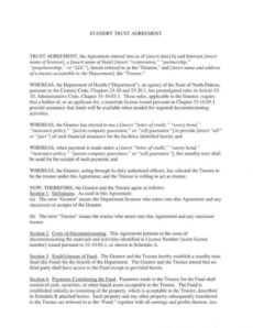editable 18 trust agreement templates  pdf word  free & premium formal trust agreement template example