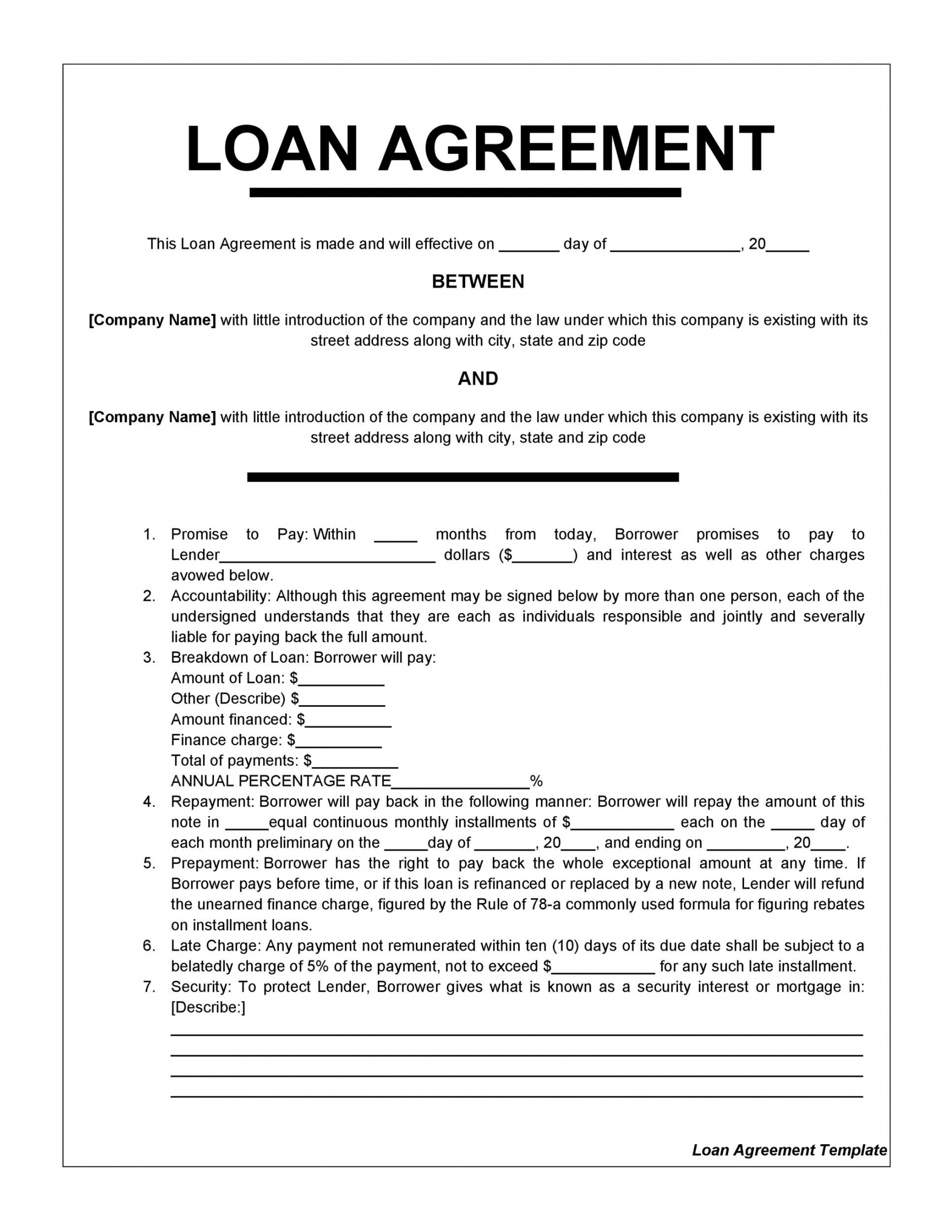editable 40 free loan agreement templates word & pdf ᐅ templatelab demand loan agreement template excel