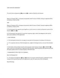 editable 53 simple joint venture agreement templates pdf doc ᐅ shared equity agreement template example