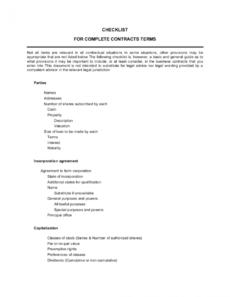 editable checklist preincorporation agreement template business pre incorporation agreement template word