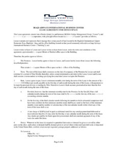 editable free 5 office lease agreement contract forms in pdf virtual office agreement template excel