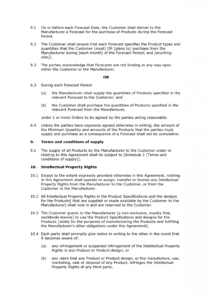 editable free manufacturing agreement  docular manufacturing license agreement template example