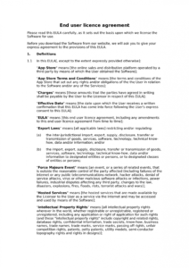 editable legal documents  docular data license agreement template pdf