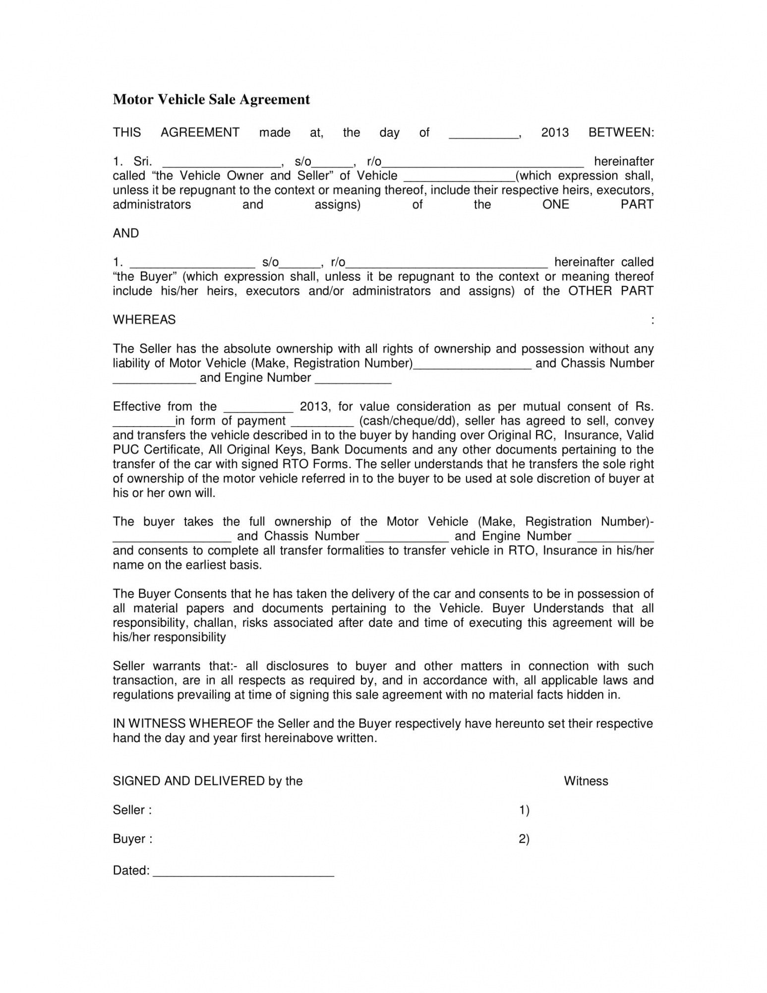 free 3 vehicle sales agreement contract forms in pdf vehicle selling agreement template