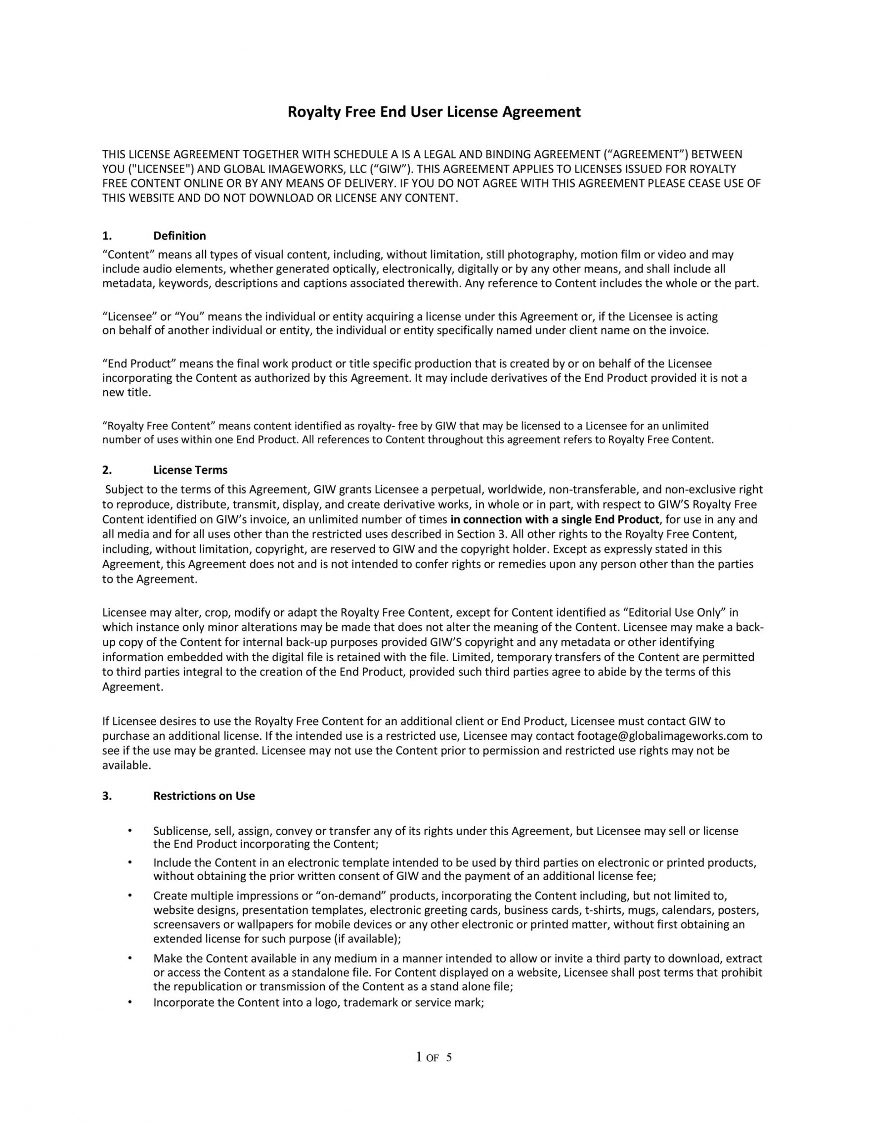 free 50 professional license agreement templates ᐅ templatelab royalty free license agreement template