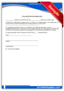 free free printable accounting services agreement form generic accounting service agreement template doc