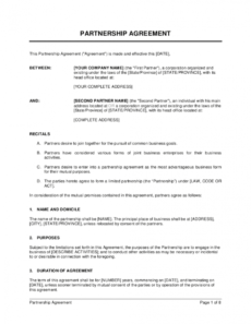 partnership agreement template businessinabox™ it partnership agreement template word