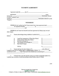 payment agreement  40 templates & contracts ᐅ templatelab money owed agreement template example