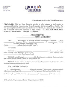 printable 18 trust agreement templates  pdf word  free & premium formal trust agreement template doc