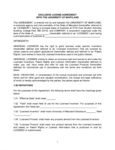 printable 50 professional license agreement templates ᐅ templatelab patent license agreement template word