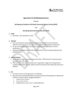 printable 6 bookkeeping contract templates  pdf word  free accounting service agreement template pdf