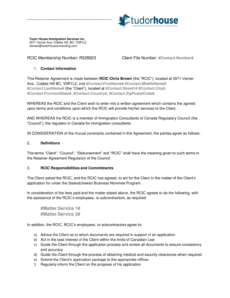 printable samplercicclientretaineragreement consulting retainer agreement template sample