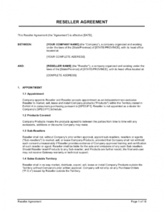 reseller agreement template businessinabox™ product reseller agreement template sample