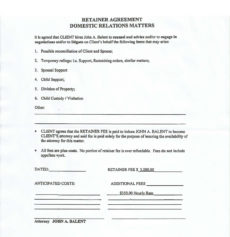 sample beware of attorney john balent legal retainer agreement template excel