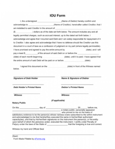 sample free i owe you iou template  pdf  eforms  free fillable money owed agreement template sample