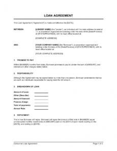 sample loan agreement template businessinabox™ demand loan agreement template excel
