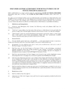 stock photo license for commercial use stock photo license agreement template doc