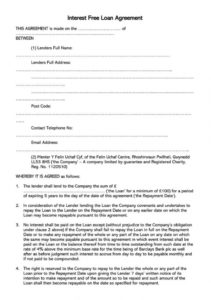 38 free loan agreement templates & forms word  pdf art loan agreement template
