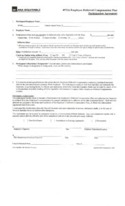 editable 403b457 salary reduction forms  equitable advisors deferred compensation agreement template sample