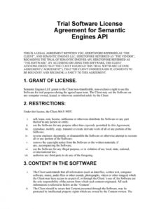 editable 50 professional license agreement templates ᐅ templatelab api license agreement template word