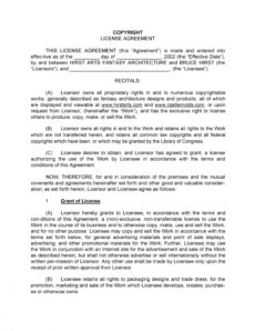 editable 50 professional license agreement templates ᐅ templatelab copyright license agreement template sample