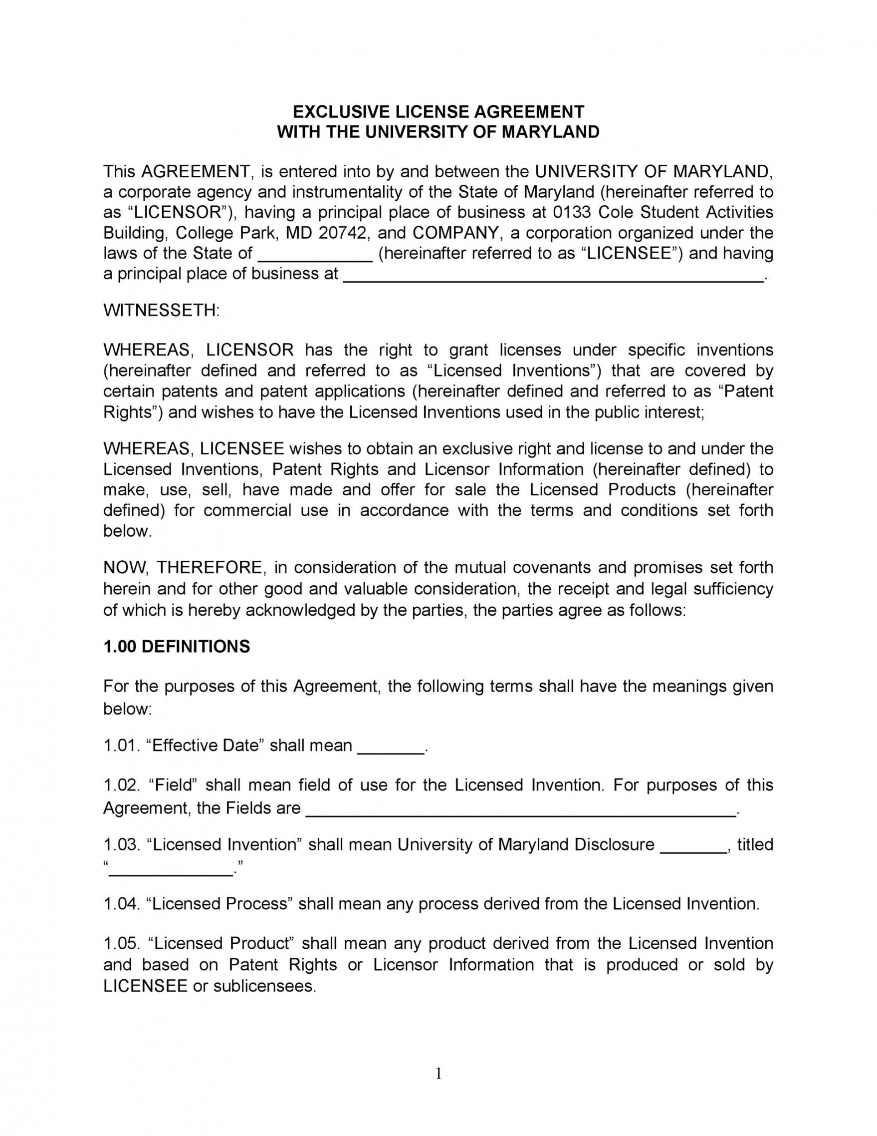 editable 50 professional license agreement templates ᐅ templatelab product license agreement template doc