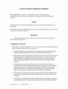editable co broker commission agreement beautiful mission split commission split agreement template pdf