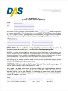 editable free 9 tuition reimbursement forms in pdf tuition reimbursement agreement template sample