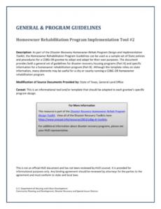 editable homeowner rehabilitation program cdbg subrecipient agreement template example