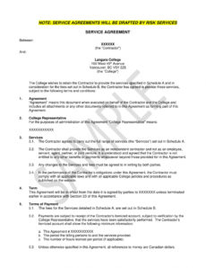 free 11 service agreement contract template examples  pdf word standard services agreement template excel