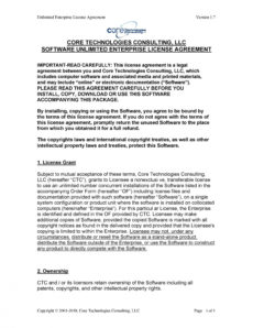 free 50 professional license agreement templates ᐅ templatelab technology license agreement template example