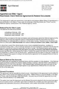 free agentharvest elite agent real estate client referral real estate license agreement template pdf