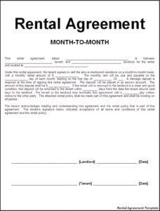 free the important terms to include in a rental agreement legal rental agreement template word