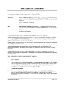 management agreement template businessinabox™ project manager agreement template doc