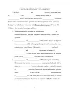 open adoption agreement 1 child adoption agreement template sample