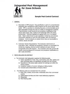pest control proposal pdf  fill online printable fillable pest control service agreement template doc