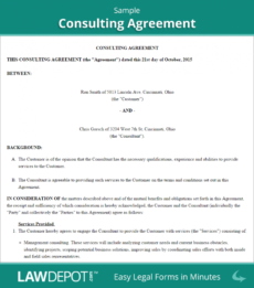 printable 25 consulting agreement samples  samples and templates marketing consulting agreement template example
