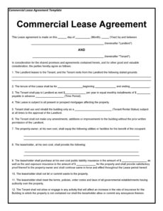 printable 26 free commercial lease agreement templates ᐅ templatelab legal rental agreement template doc