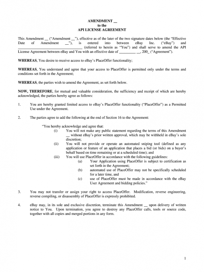 printable ebay api agreement  fill out and sign printable pdf template  signnow api license agreement template doc