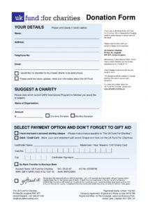 printable free 5 charity donation forms in pdf  ms word charitable donation agreement template excel