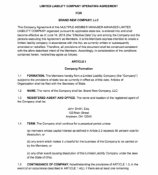 printable how to create an llc operating agreement  free templates law firm operating agreement template pdf