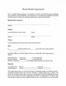 printable room rental agreement template idea ~ addictionary private rental agreement template excel