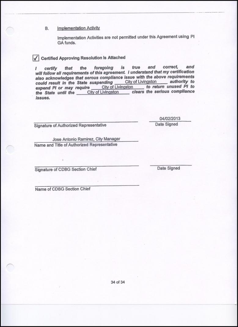 sample 2 resolution approving the community development block cdbg subrecipient agreement template