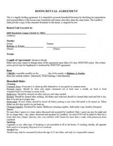 sample 39 simple room rental agreement templates  template archive room sublease agreement template pdf