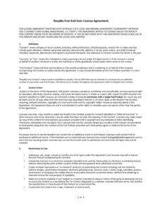 sample 50 professional license agreement templates ᐅ templatelab content license agreement template excel
