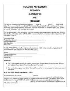 sample 9 simple tenancy agreement templates  pdf  free & premium private rental agreement template excel