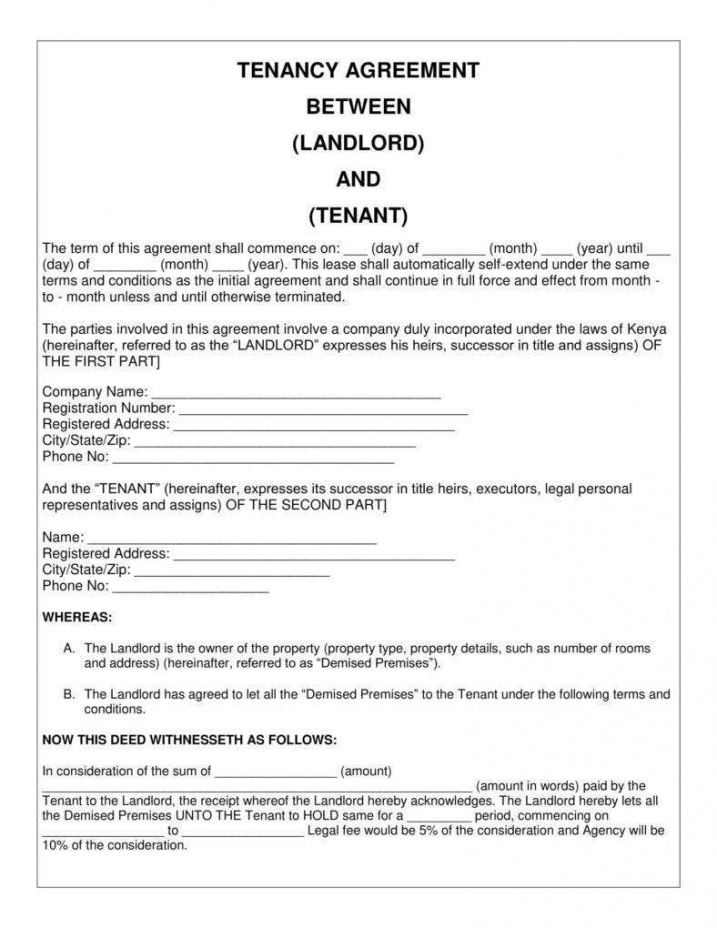 sample 9 simple tenancy agreement templates  pdf  free & premium private rental agreement template excel